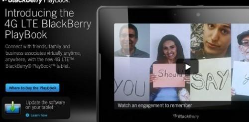 4G BlackBerry PlayBook