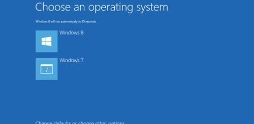 Dual boot Windows 8-Windows 7
