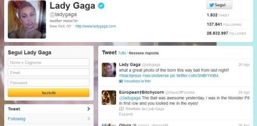 Lady Gaga su Twitter