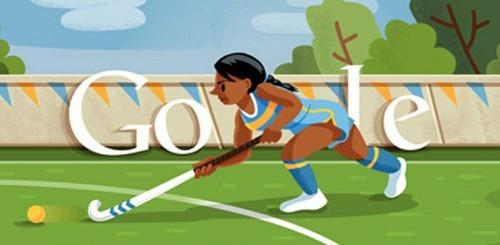 Olimpiadi di Londra 2012, Google doodle hockey su prato