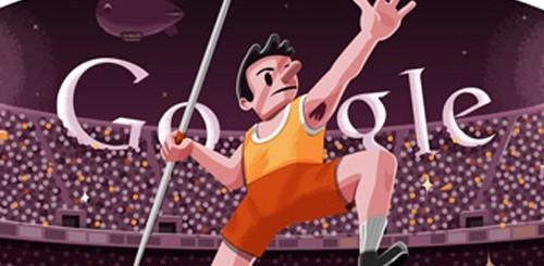 Olimpiadi di Londra 2012, Google doodle lancio del giavellotto