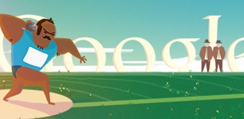 Olimpiadi di Londra 2012, doodle lancio del peso