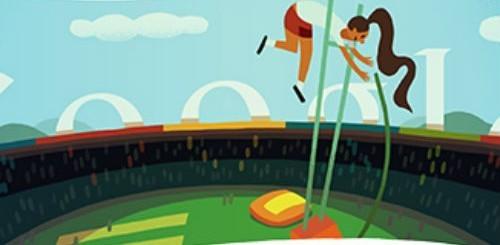 Olimpiadi di Londra 2012, doodle salto con l'asta