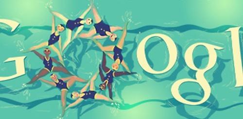 Olimpiadi di Londra 2012, Google doodle nuoto sincronizzato
