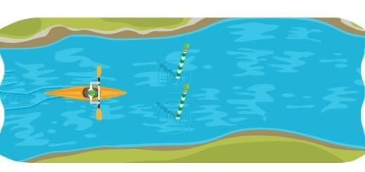 In canoa con un doodle