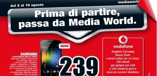 Galaxy Nexus a 239 euro da Mediaworld