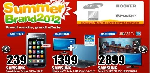 Mediaworld Summer Brand 2012: le offerte di questa settimana