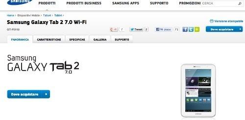 Un Samsung Galaxy Tab 2 7.0 in regalo a chi comprerà un Samsung Galaxy S3