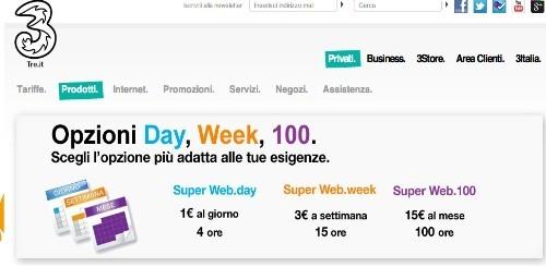 Tre Italia: le migliori offerte per navigare da computer