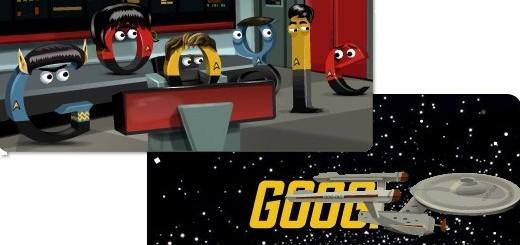 Doodle per l'anniversario di Star Trek