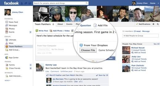 Dropbox nei gruppi Facebook
