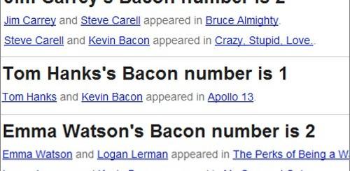 Google, easter egg per i gradi di Kevin Bacon