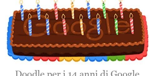Google, un doodle per i 14 anni del motore di ricerca