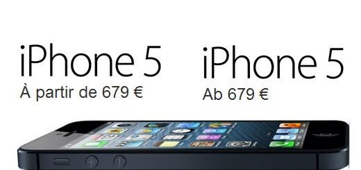 Prezzi iPhone 5