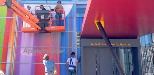 iPhone 5, striscioni colorati allo Yerba Buena Center