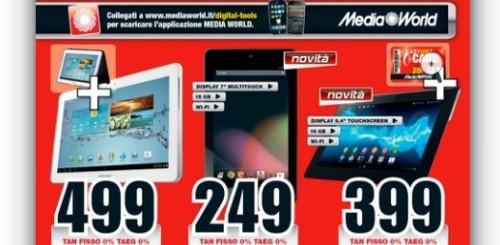 Mediaworld lancia il nuovo volantino: in arrivo il Nexus 7