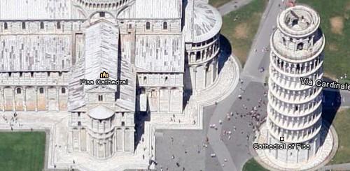 Google Maps, la Torre di Pisa