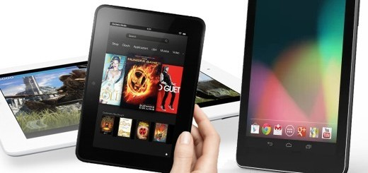 iPad, Nexus 7 e Kindle Fire