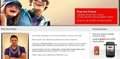 Vodafone - Play The Future: concorso per trovare nuovi giovani creativi