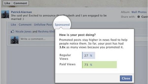 Messaggi sponsorizzati su Facebook