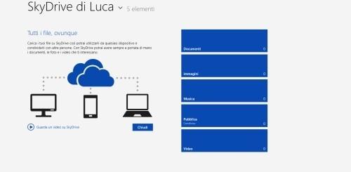 SkyDrive per Windows 8