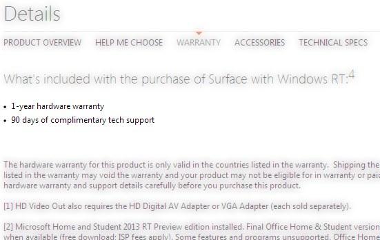 Garanzia Microsoft surface