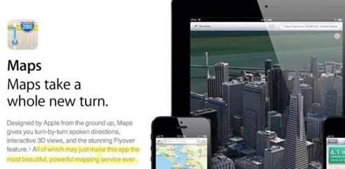 Mappe di iOS 6, il sito