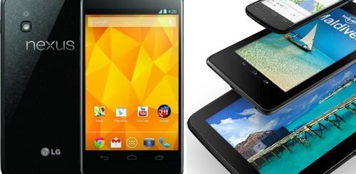 Nexus 4, Nexus 10 e Nexus 7 da 32 GB