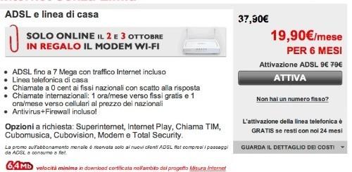 Telecom Italia: sconto sul canone e un modem WiFi in regalo a chi attiverà Internet Senza Limiti