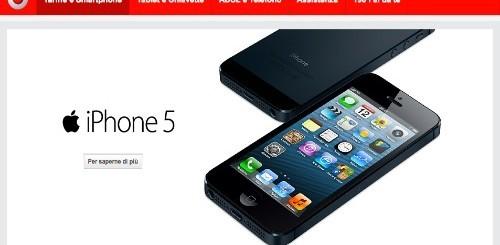 Apple iPhone 5: tutte le offerte ricaricabili ed abbonamento di Vodafone