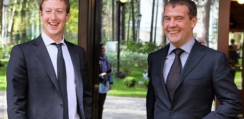 Mark Zuckerberg e Dmitry Medvedev