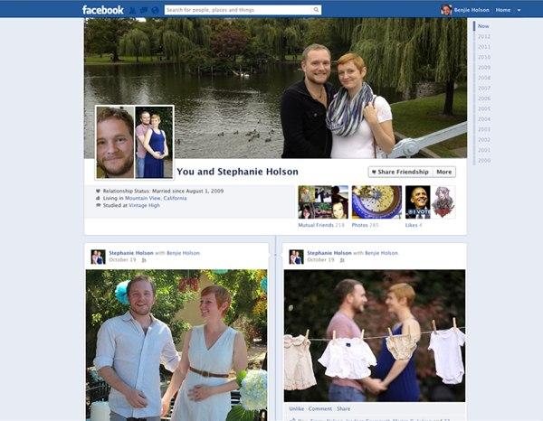 Dettagli di amicizia su Facebook