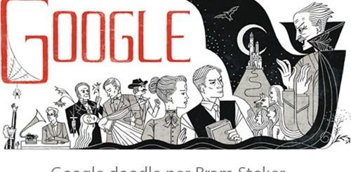Bram Stoker, Google doodle per l'autore di Dracula