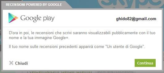 Google Play, recensioni