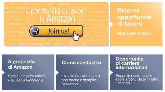 Ricerca di lavoro in Amazon