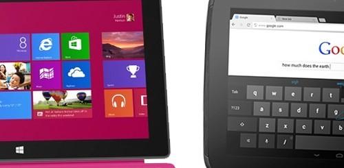 Microsoft Surface vs. Nexus 10