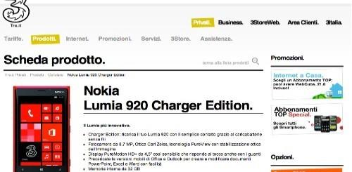 Nokia Lumia 920: ecco l'offerta esclusiva di 3 Italia