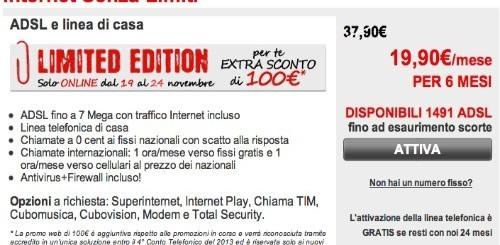 Telecom Italia: 100 euro di extra sconto per chi si abbonerà a Internet Senza Limiti