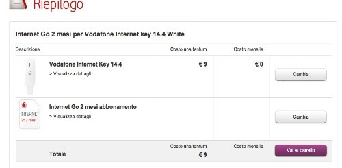 Vodafone: Internet key e 2 mesi di internet a soli 9 euro