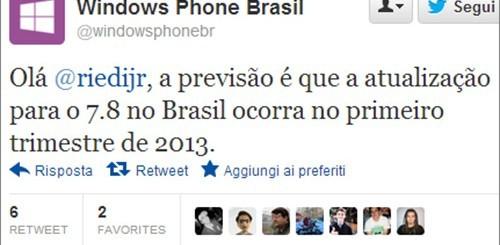 Windows Phone 7.8, indiscrezioni sull'uscita dal Brasile