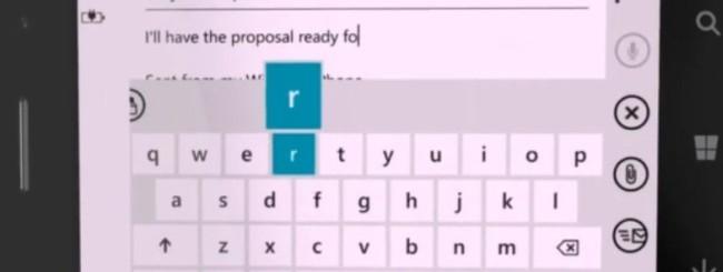 Windows Phone 8 Word Flow keyboard