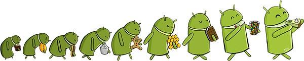 L'evoluzione di Android, artwork di Manu Cornet