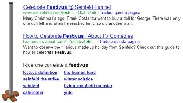 Festivus, il nuovo easter egg di Google sul motore di ricerca