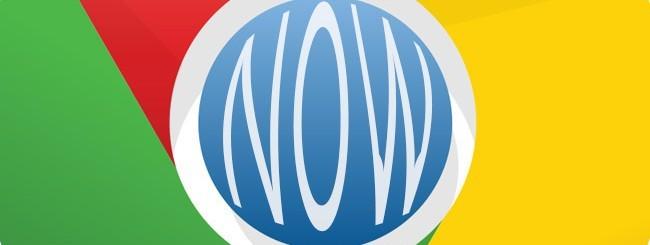 Google Chrome e Google Now