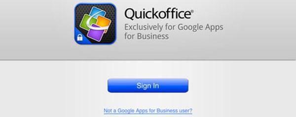 Quickoffice per iPad, la versione gratuita per gli utenti Google Apps for Business