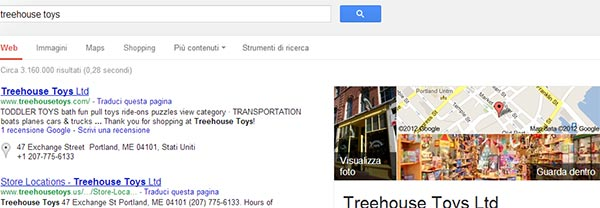 Mappe indoor tra le ricerche di Google