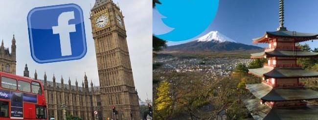FB - Twitter Londra Tokyo
