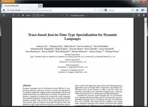 Visualizzatore PDF in Firefox 19