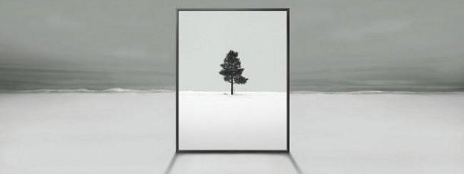 Samsung cornice trasparente