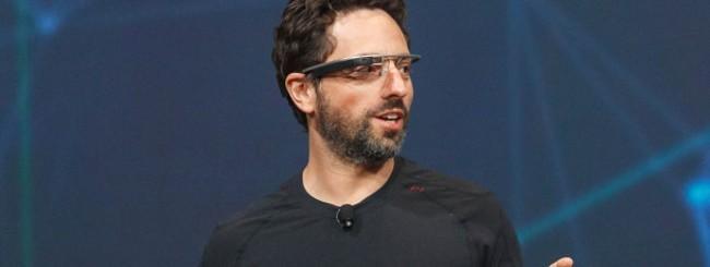 Sergey Brin con i Google Glass